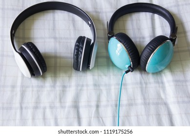 Headphones on the couch