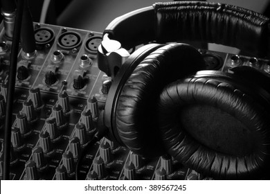 Headphones on Soundboard