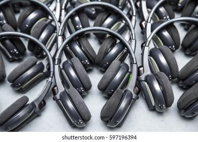 headphones used for simultaneous translation equipment