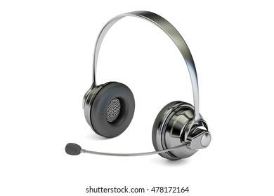 Headset, 3D rendering isolated on white background