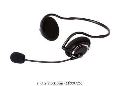 Headset isolated on white background