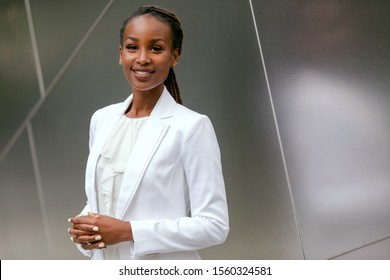Headshot of an african american business woman, CEO, finance, law, attorney, legal, representative