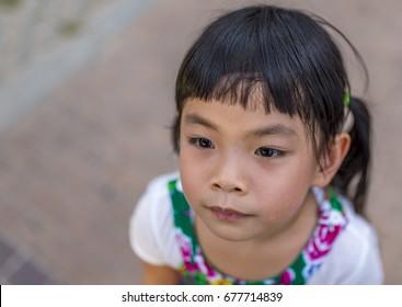 Headshot Asian little girl