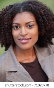 Headshot of an attractive black businesswoman
