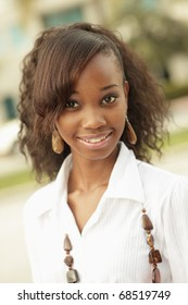 Headshot of an attractive black woman