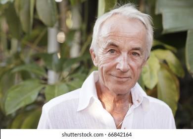 Headshot of an old man