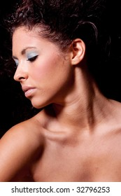 Headshot of pretty brunette woman