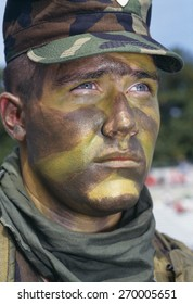 Headshot of soldier in camouflage