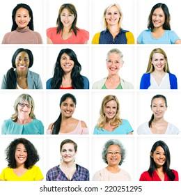 Headshots of Diverse Women