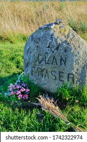 Headstone commemorating Clan Fraser at the Battlefield of Culloden