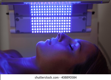 healing blue light therapy session