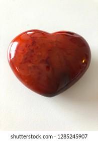 Healing Carnelian Stone Heart