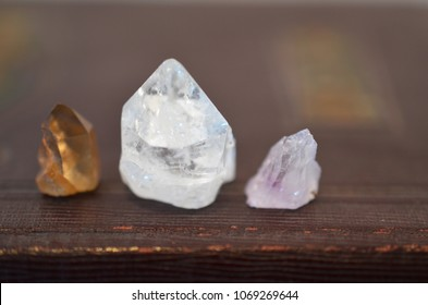 Healing Crystals, Clear Quartz, Crystal Wiccan Alter, Bohemian Decorations, Meditation, Reiki Chakra healing, Beautiful and Bright Gemstones