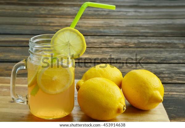 Health Benefits Drinking Lemon Water Lemon Stock Photo (Edit
