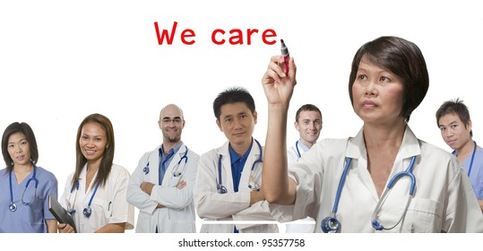 Health care concept with Doctors and Nurses