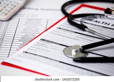 Health care costs. Stethoscope. health care costs or medical insurance