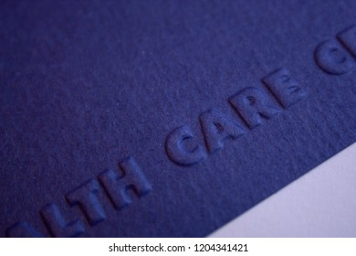 Health Care Embossed