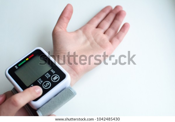 Health care for men with rhythm Very high blood pressure. Health concept
