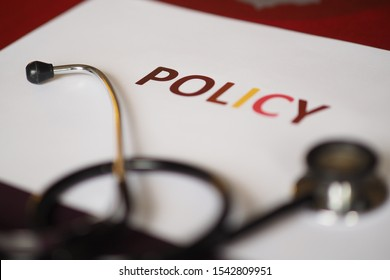 Health care policy picture with letters