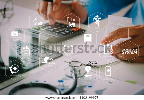 Health Care System Diagram Health Check Stock Photo  Edit