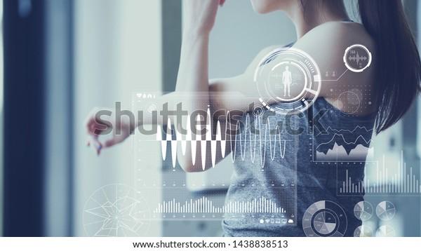 Health care technology concept. Vital sign sensing.