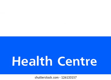 health centre sign