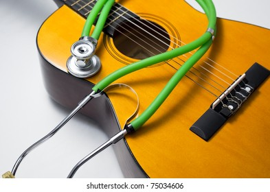 Health concepts. Music has healing ability to all the creature in the world.