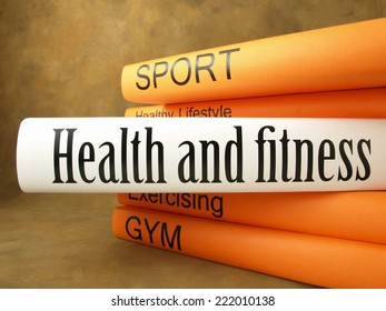 Health and fitness, Stack of books