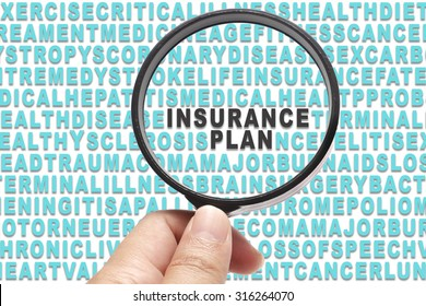 Health Insurance conceptual focusing on Insurance Plan