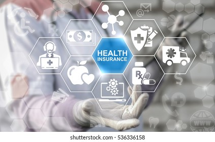 Health insurance medicine safety finance treatment computer concept. Healthcare medical assurance help money premium healthy web technology.