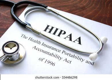 Health Insurance Portability and accountability act HIPAA and stethoscope.