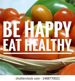 Health quotes with vegetables background