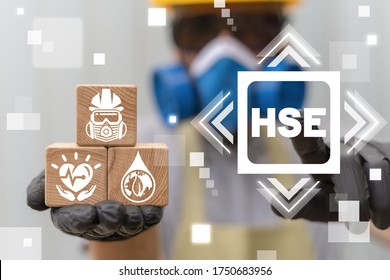 Health Safety Environment HSE Education Industry Concept.
