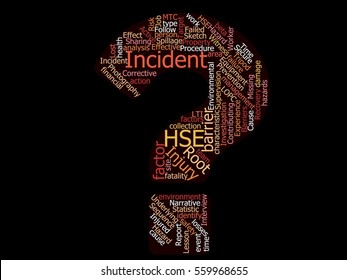 Health Safety Environment (HSE) Incident / Accident Investigation word cloud