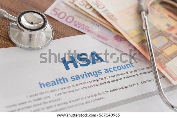 Health Savings Account Hsa Concept Application Stock Photo Edit Now 567140965