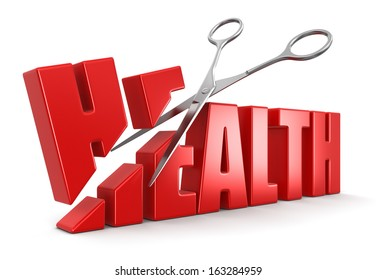 Health and Scissors (clipping path included)