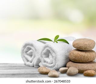 Health Spa, Towel, Bamboo.