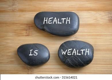 Health is wealth, health conceptual