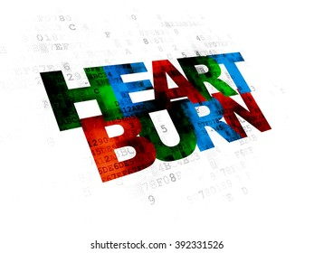 Healthcare concept: Heartburn on Digital background