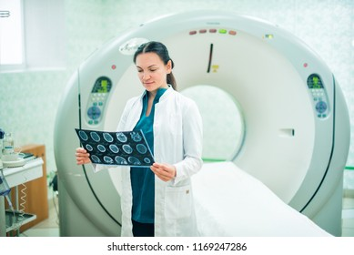 Healthcare And Medicine concept. Doctor.  Сomputer tomography