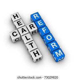 Healthcare Reform cubes crossword