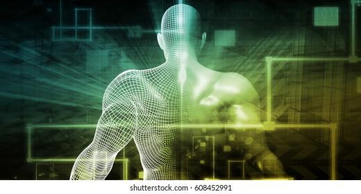 Healthcare System Network as a Digital Technology Concept 3D Illustration Render