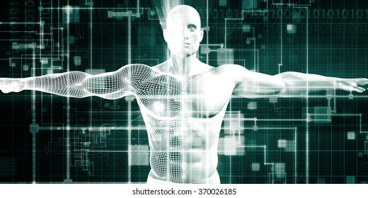 Healthcare Technology and Medical Scan of a Body Diagnosis