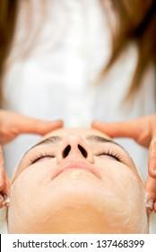Healthcare treatment at the spa salon