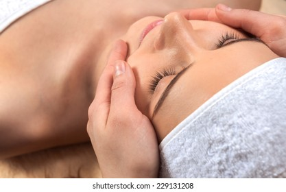 Healthcare treatment at the spa salon for a woman