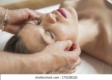 Healthcare.portrait of young beautiful woman in spa environment