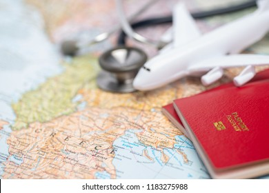 Health/medical tourism or foreign insurance travel concept.