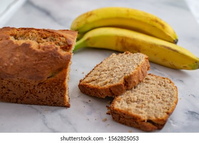 Healthy banana bread or cake for breakfast
