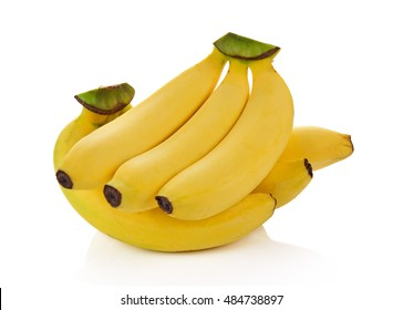 healthy banana fruit isolated on white background.