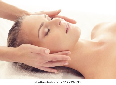 Healthy and Beautiful Woman in Spa. Recreation, Energy, Health, Massage and Healing.